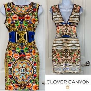 CLOVER CANYON BodyCon Floral Printed Mini Dress S